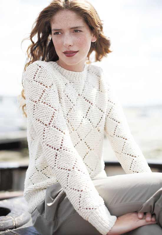 46f3bfbb2 Knit a diamond lace sweater    free knitting pattern    sweater patterns  knitting    allaboutyou.com