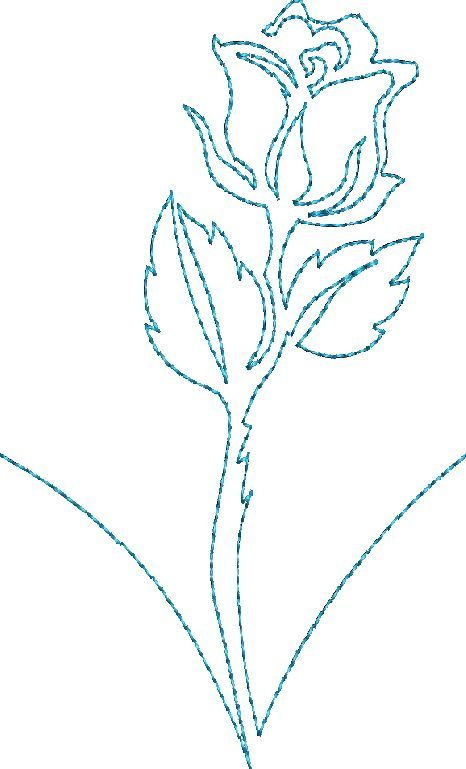 Continuous Single Line Quilting Flowers - Machine Embroidery Designs ...