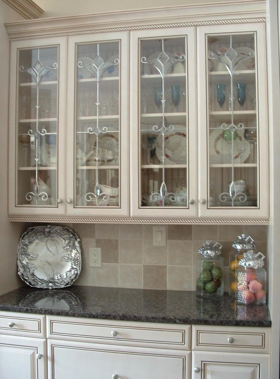 image result for stained glass door panels   cottage kitchen