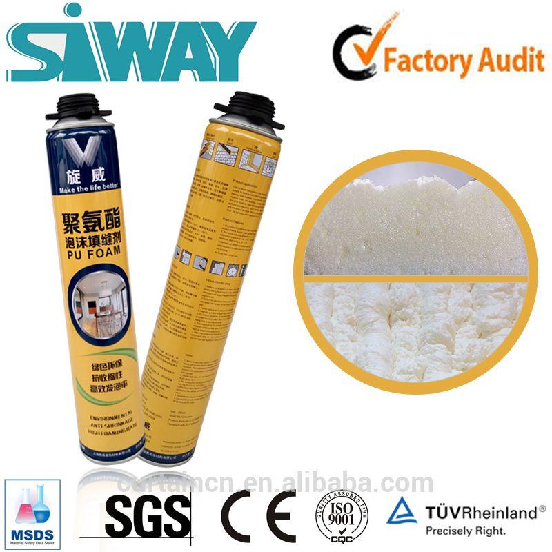 High Performance Expanding Pu Foam For Caulk Seal Spray Foam Insulation Polyurethane Foam Spray Foam