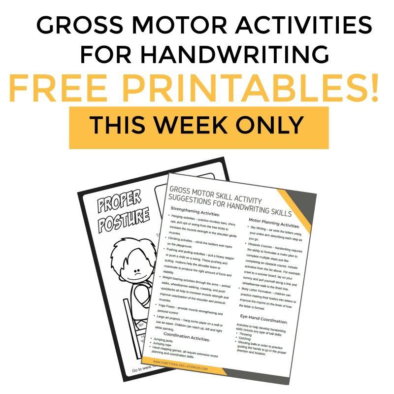 Gross Motor Activities To Help With Handwriting Handwriting Books Handwriting Activities Motor Skills Activities