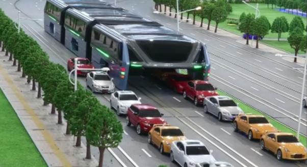 Trafiğin Üzerinden Gidebilen Otobüs Çinliler Geliştirdi