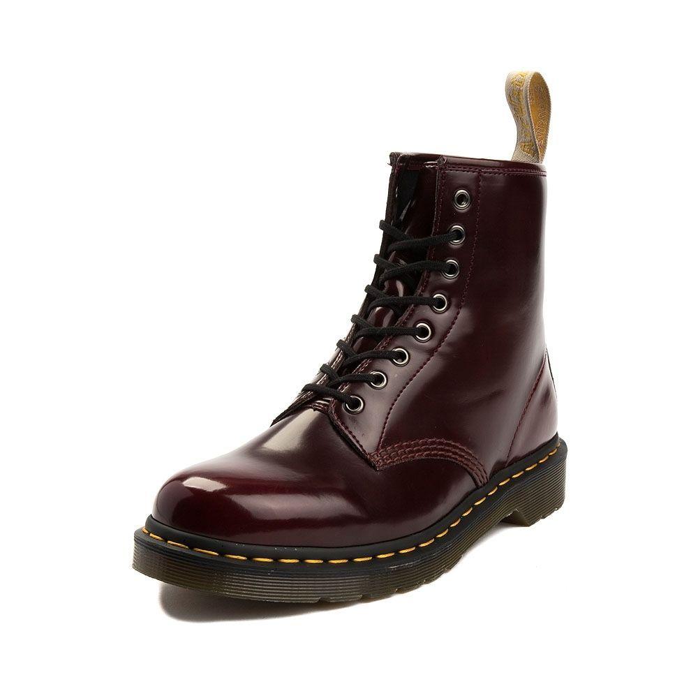dr martens burgundy 1460 vegan chrome 8 eye boots