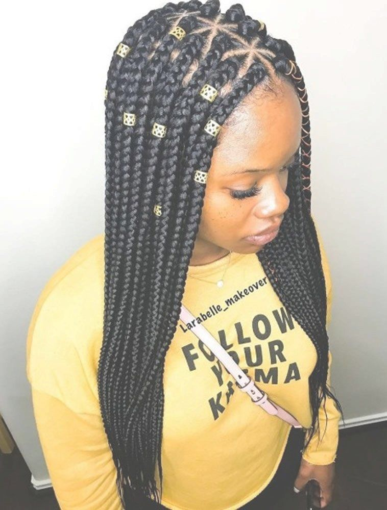 Medium Small Sized Box Braids Black Brown Box Braids Protective Style Box Braids Hairstyles Braided Hairstyles Braids For Black Hair