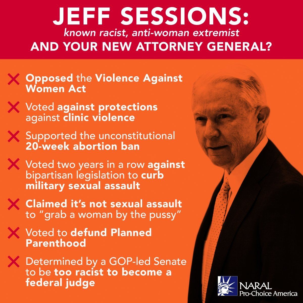 NARAL on | Twitter, Politics and Jeff sessions