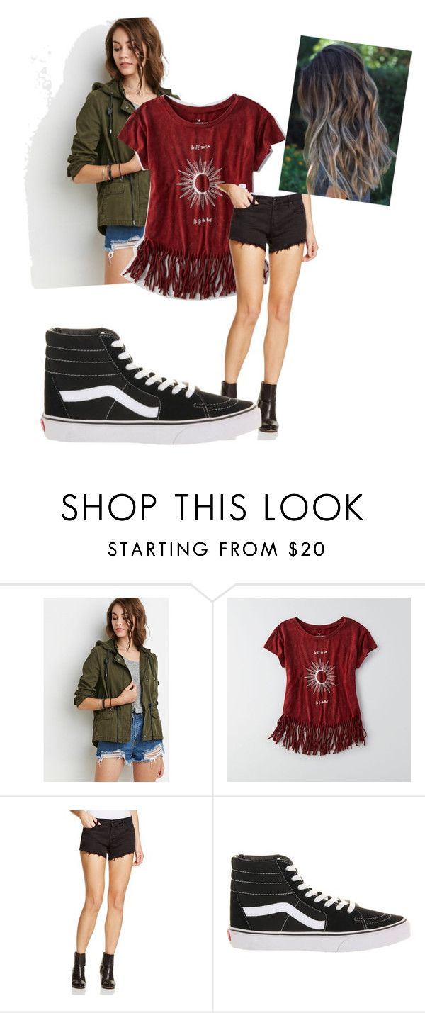 """""""On the run"""" by juliodauntless on Polyvore featuring Forever 21, American Eagle Outfitters, BLANKNYC, Vans, women's clothing, women, female, woman, misses and juniors"""