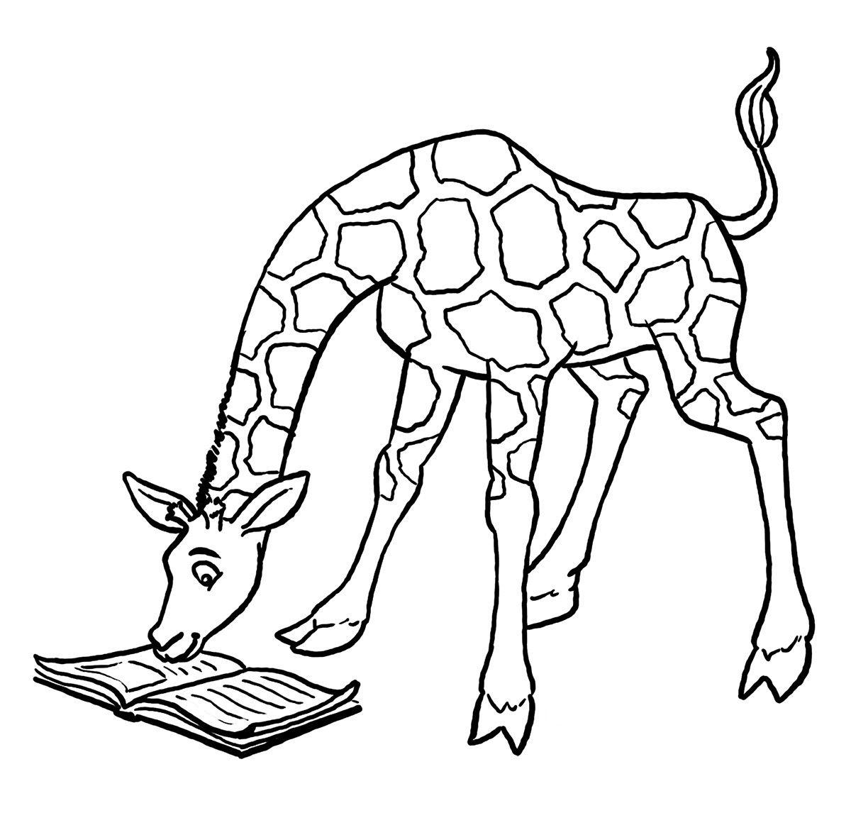 Giraffe  C B Giraffe Coloring Pages