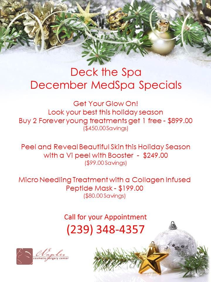 Pin by Naples Cosmetic Surgery Center on Med Spa Specials in