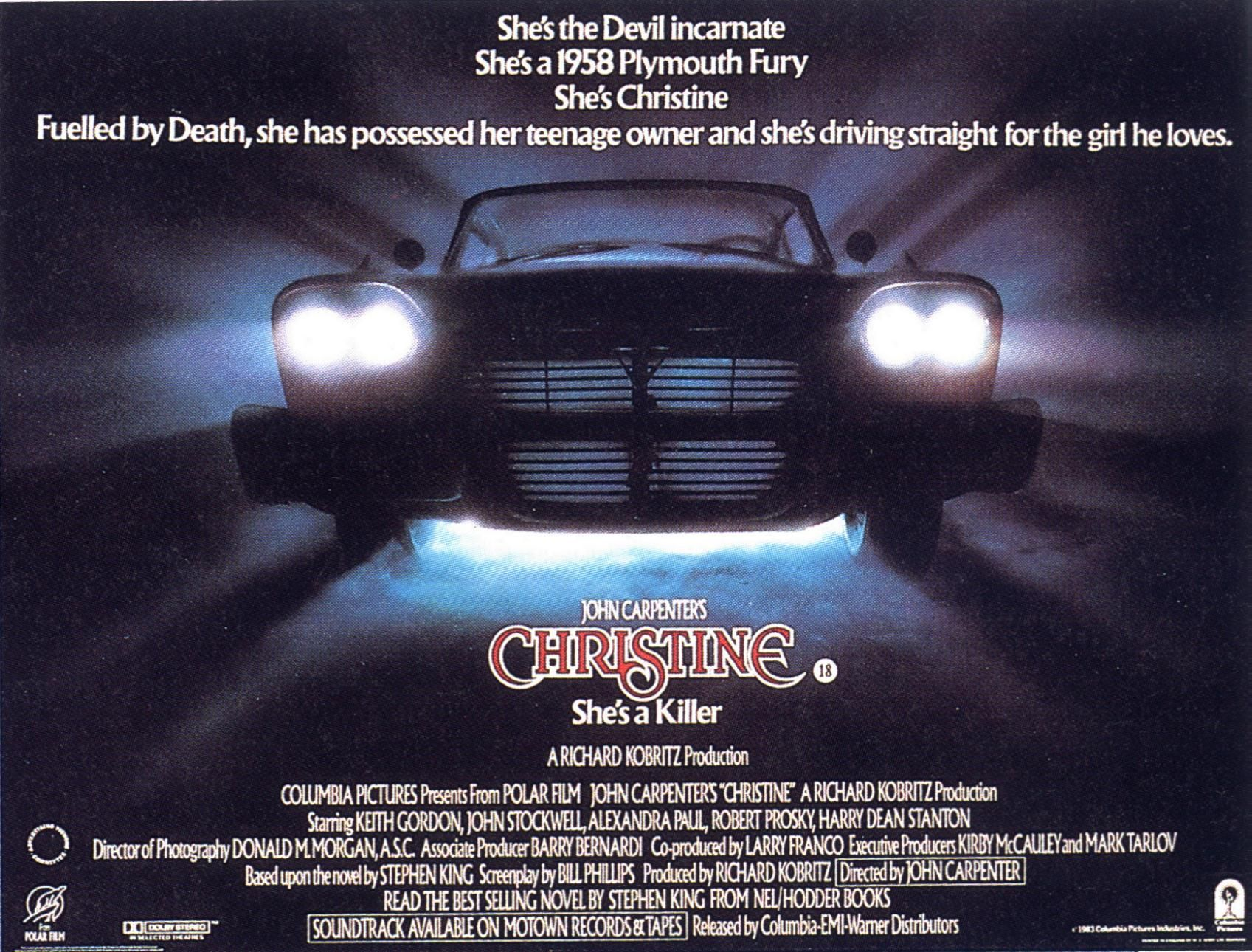 1983 Movie Posters: Christine Movie Poster - Google Search