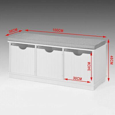 SoBuy®  Hallway Shoe Storage Seat Bench Cabinet with Drawer & Cushion,FSR30-W,UK 6900021369732 | eBay