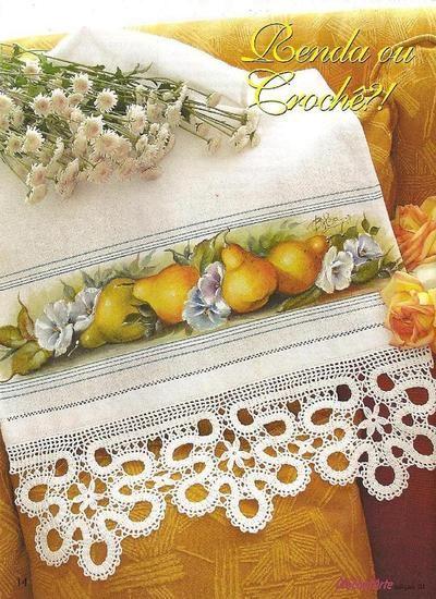 Blog de alicepinturasecroche :Alice pinturas em tecido e crochê, pintura e bico de crochê