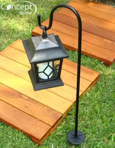 Farol solar colgante autom tica lampara efecto vela kobe - Lamparas solares para jardin ...