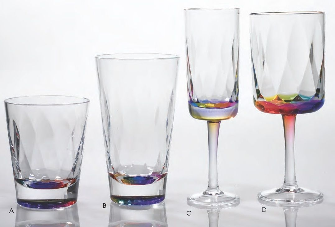 Outdoor Glassware Acrylic Rainbow Prism 24pc Outdoor Acrylic Glassware Set Outdoor Acrylic With Images Acrylic Glassware Outdoor Glassware Glassware Set