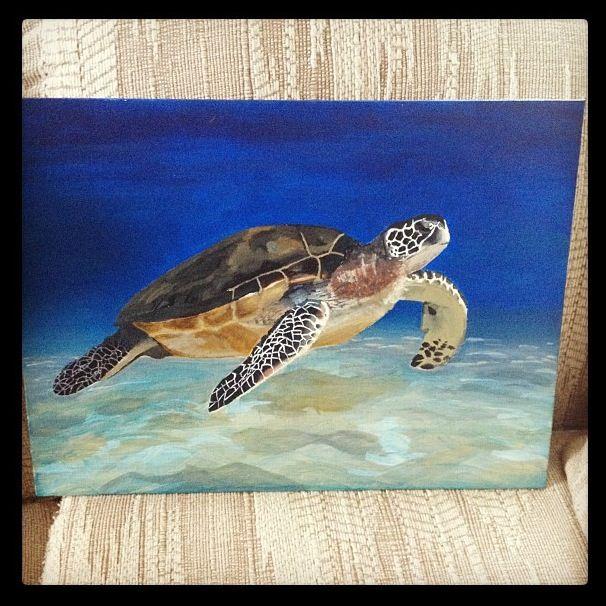 Sea turtle painting artwork pinterest sea turtle for Turtle fish paint