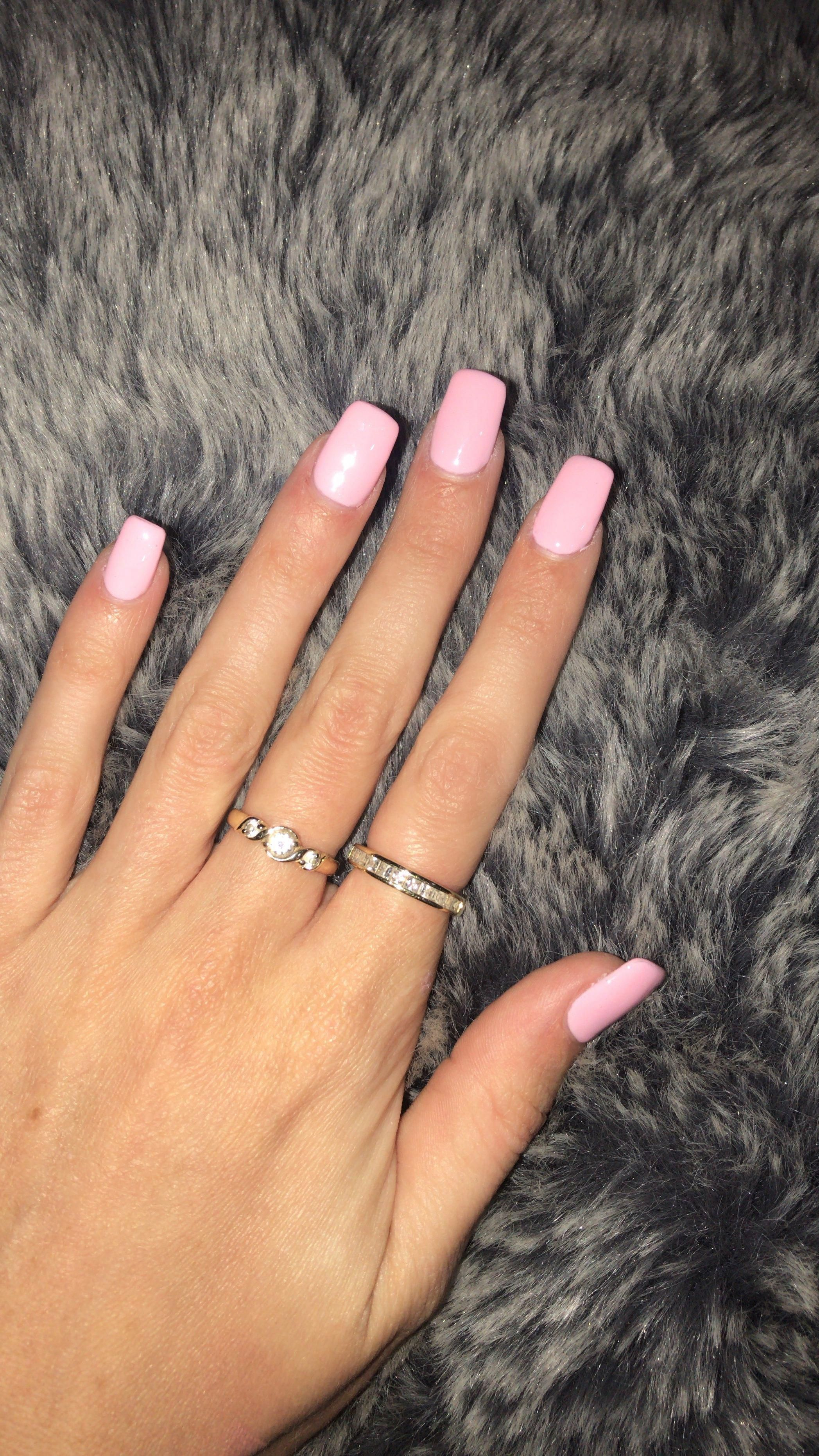 Square Baby Pink Acrylic Nails Colour Is Sunset Fog 599 White Acrylic Nails Water In 2020 Pink Acrylic Nails Light Pink Acrylic Nails Square Acrylic Nails