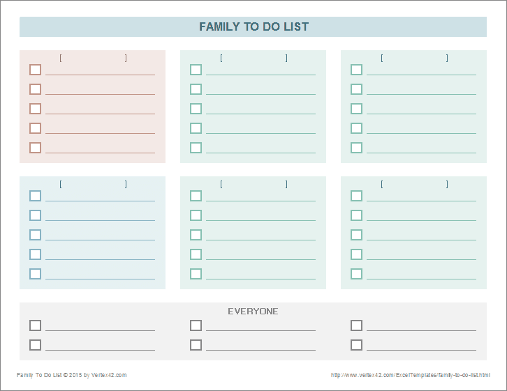 to do lists excel