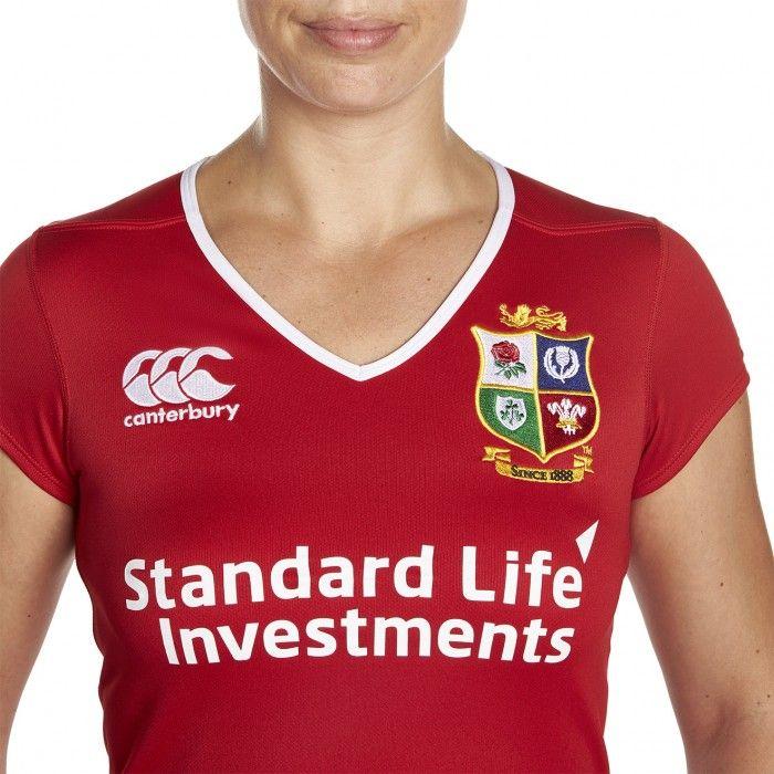 e489a936c9a British & Irish Lions Match Day Pro Ladies Replica Jersey | Rugby Plus