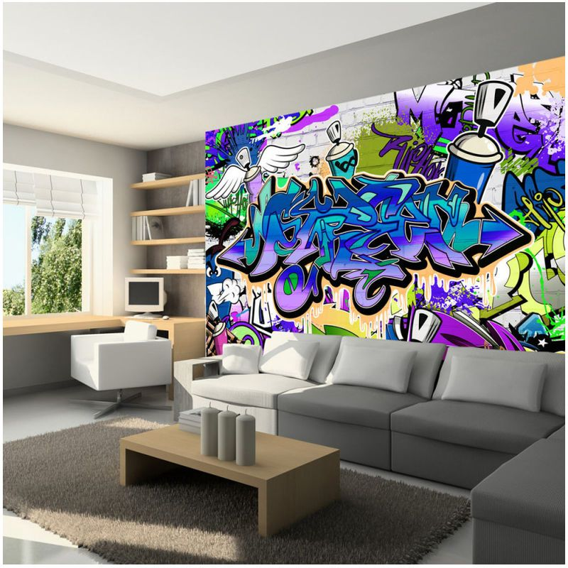 Film Adhesif Decoratif Graffiti Wall Murals Home Furniture