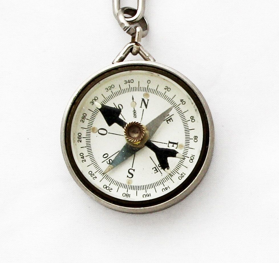 Page Not Found Compass Keychain Working Compass Vintage German