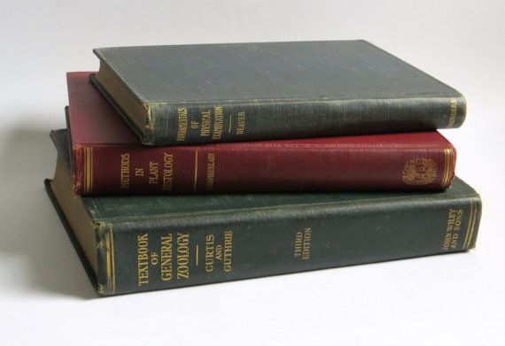 Lot of Three Vintage Text Books Educational by Iprefervintage, $26.00
