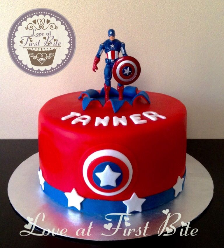 Captain America Cake By Love At First Bite In Nashville TN