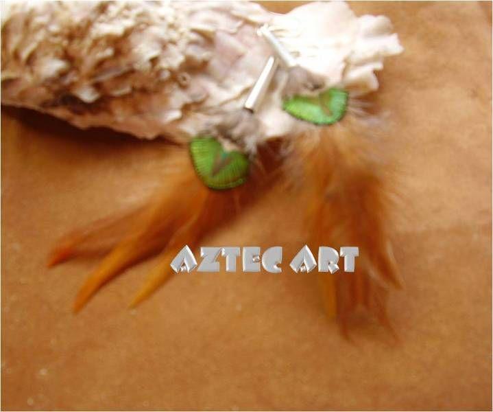 """Ohrhänger """"PEACOCK"""" von Aztec Art - Kunst und Kunsthandwerk auf DaWanda.com"""