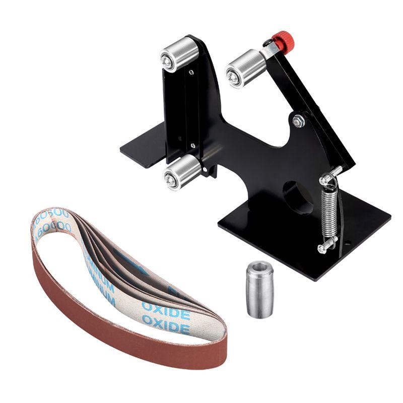 1 Set Diy Mini M10 Angle Grinder Belt Sander Attachment Sanding Belt Adapter Sanding Belts Electric Power To Diy Belt Sander Power Tool Accessories Diy Belts