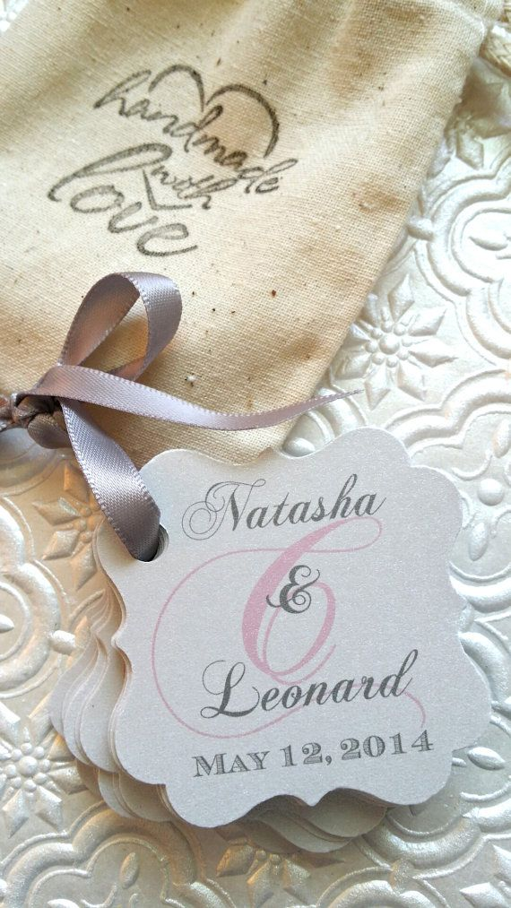 Wedding Favor Tags Monogram Tags Set Of 100 By Printrends On Etsy