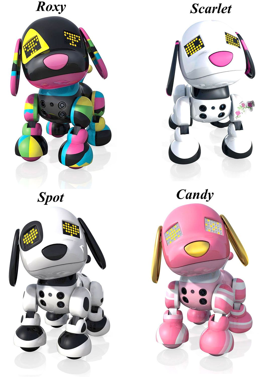 Zoomer Zuppies Interactive Robot Puppy Assorted Color Large Jpg