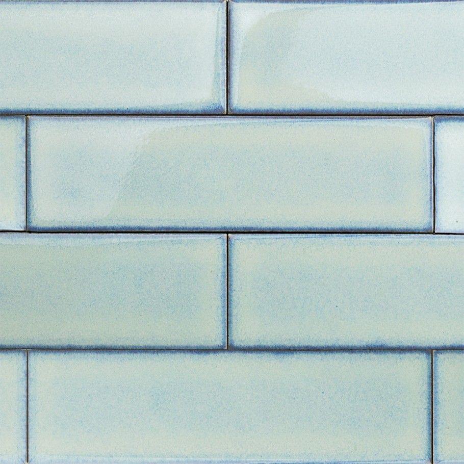 Ceramic Subway Tile Kitchen Backsplash: Byzantine Alice Blue Ceramic Subway Tile