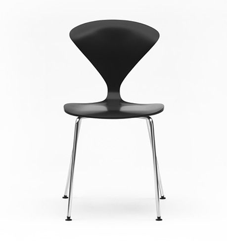Beautiful Cherner Stacking Side Chair With Wire Base. Metal ChairsWood ... Nice Look