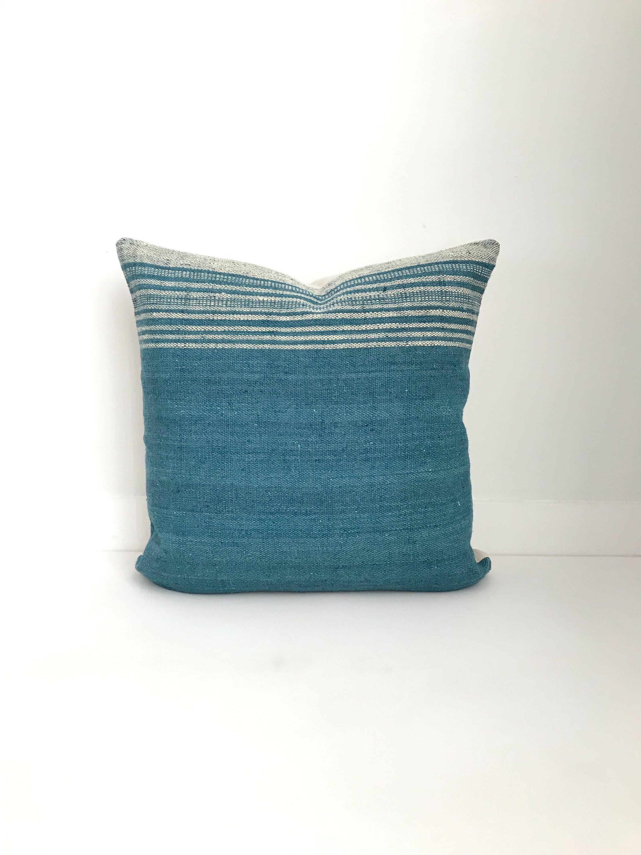 Wool Pillow Cover, Teal, Blue, Modern Farmhouse, Boho Pillow
