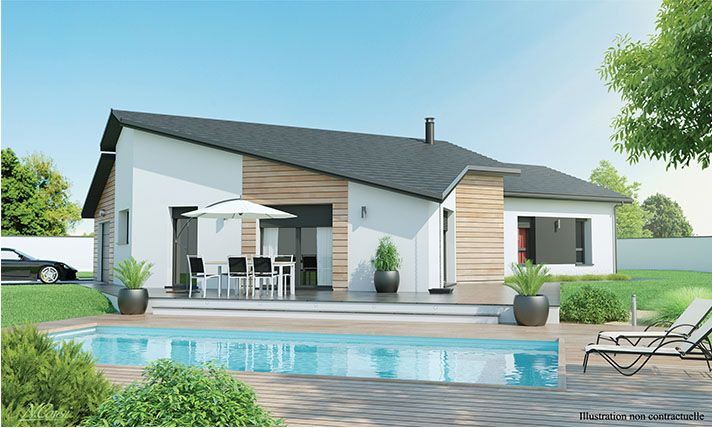 maison moderne de plain pied Contemplea | new house | Pinterest | House
