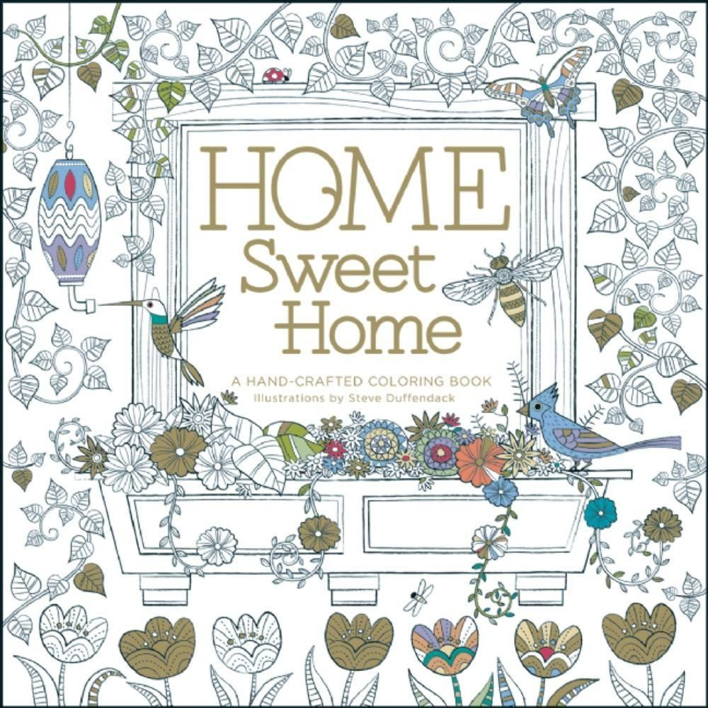 Home Sweet A Handcrafted Coloring Book