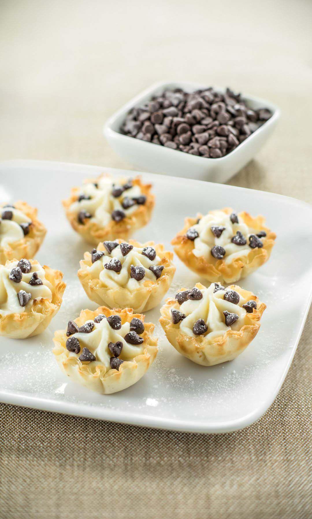 Cannoli bites recipe bite size desserts desserts