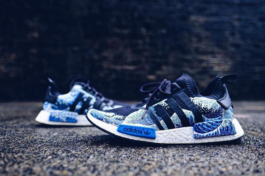 Adidas NMD R1 Ukiyoe 'Blue Wave' | Adidas nmd blue, Adidas
