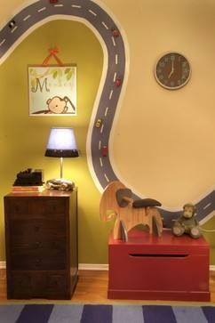 Fun Magnetic Paint On The Walls To Make A Race Track Coolstuff