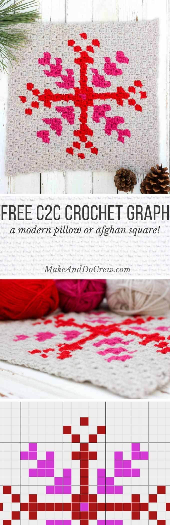 Snowflake Pattern - Free C2C Crochet Graph | Things To Crochet ...