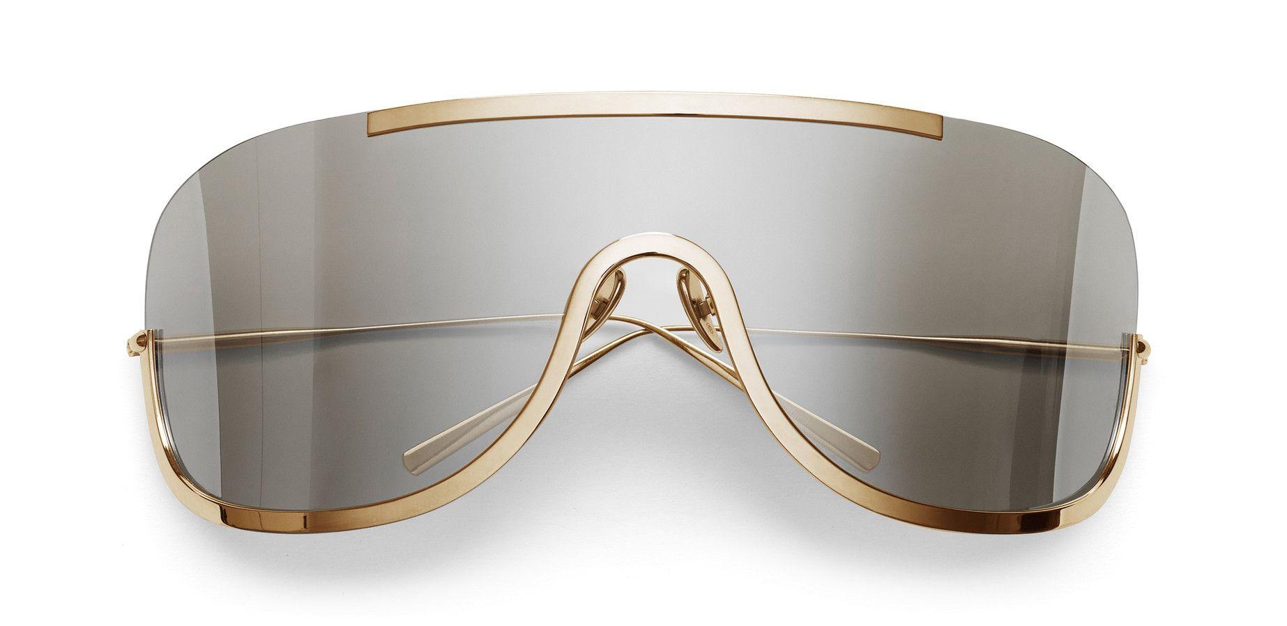 Acne Studios Mask Junior Silver/Gold Futuristic sunglasses