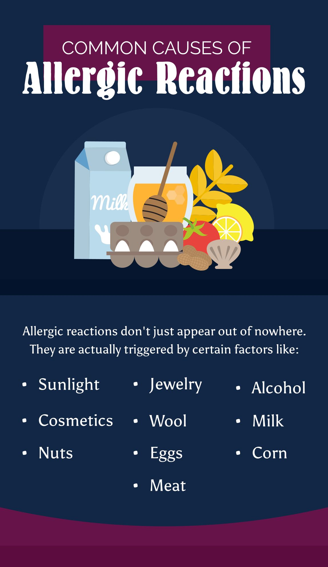 Common causes of allergic reactions allergicreactions