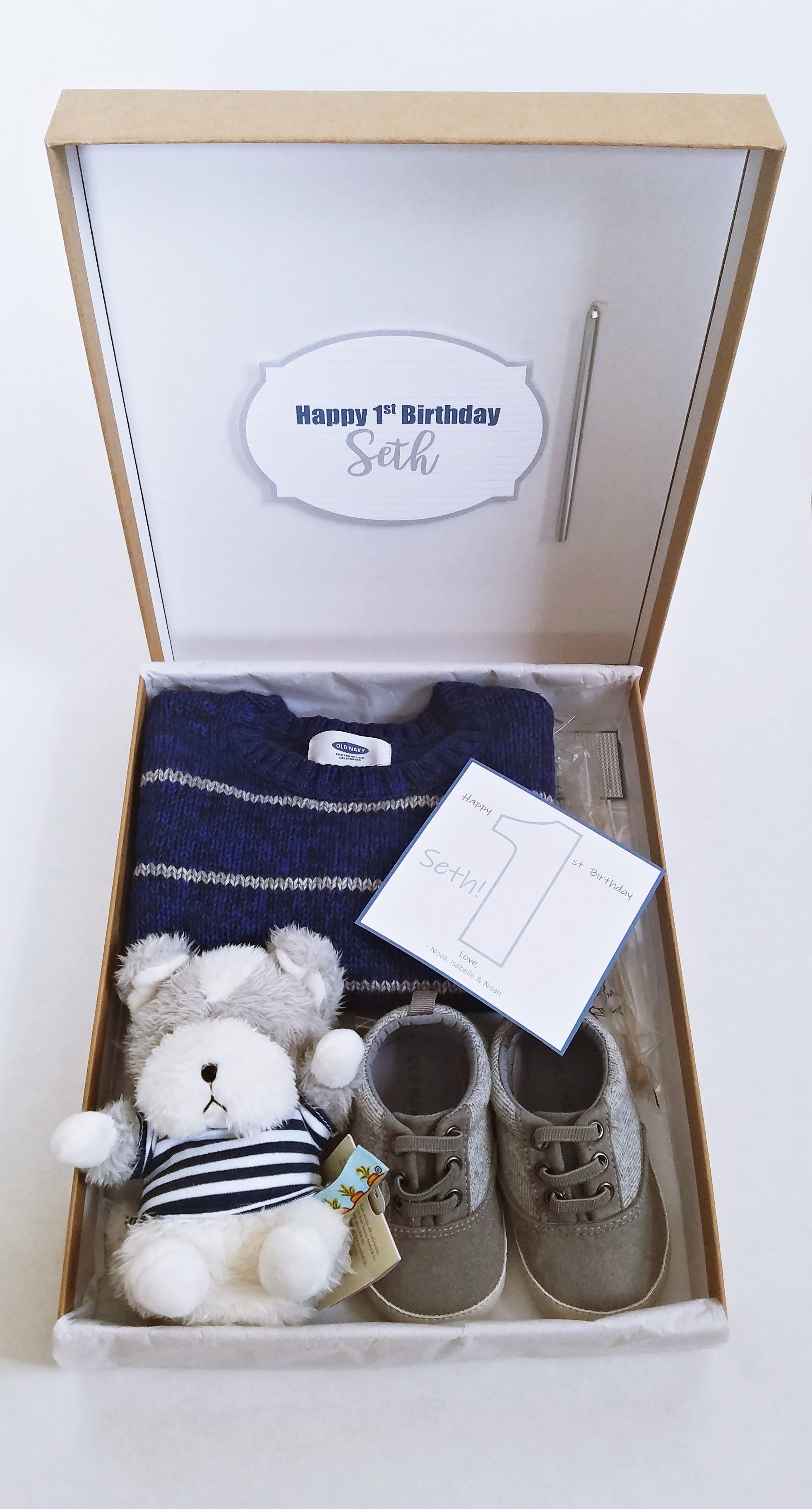 Seth Baby Shower Gift S is for Seth Baby Vest Gift for Baby Seth