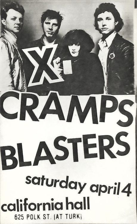 What a show this must have been! X, The Cramps and The Blasters | 35 Old Punk Flyers That Prove Punk Used To Be So Cool