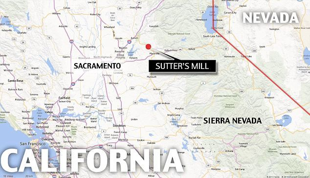 Sutters Mill Map Couple finds $10m of coins buried on their California property  Sutters Mill Map