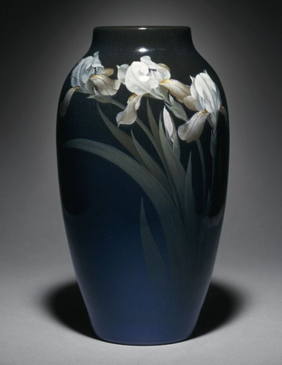 Rookwood Pottery, Cincinatti, Black Iris Glaze decorated vase by Charles Schmidt 1911.