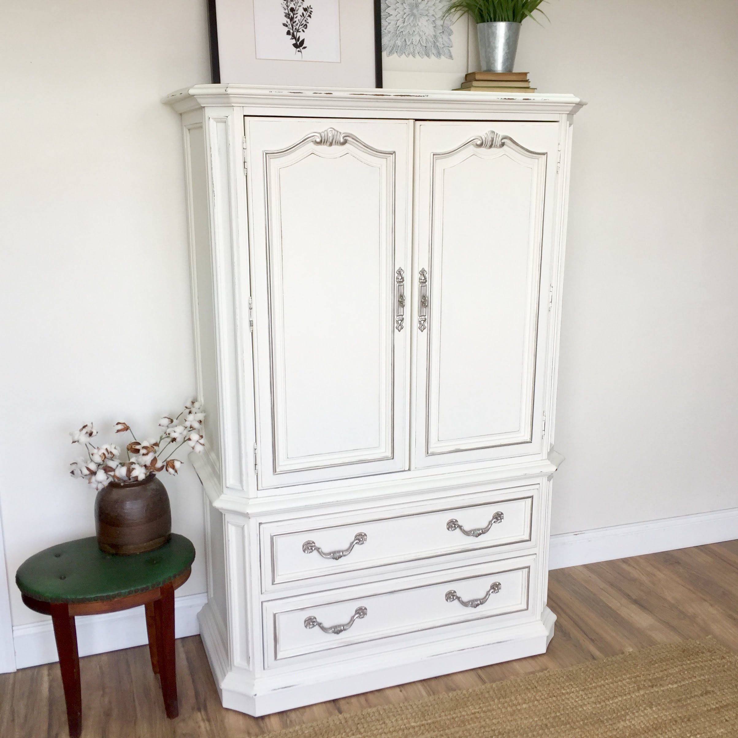 But Armoir White Armoire Shabby Chic Furniture Sold By Vintage Hip Decor