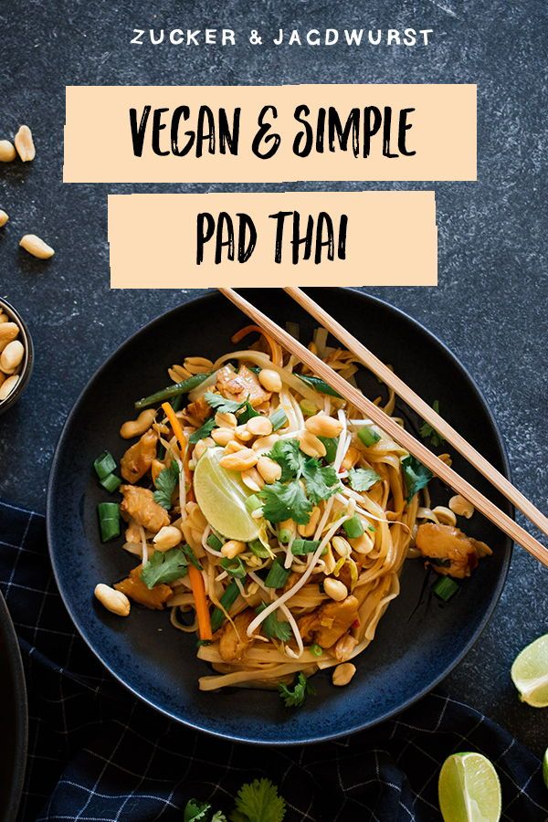 "Vegan Pad Thai with ""chicken"" #hairhealth"