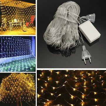 2M*3M 3M*3M Waterproof Mesh Net LED Fairy String Light For Wedding