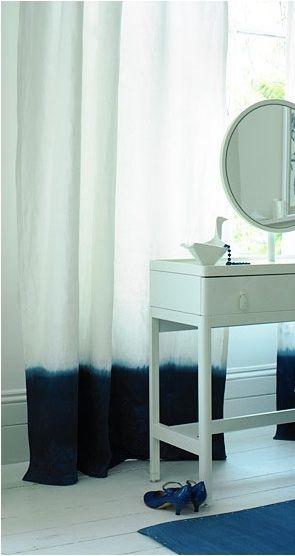 dip dyed curtains dip verf gordijnen doe het zelf gordijnen witte gordijnen