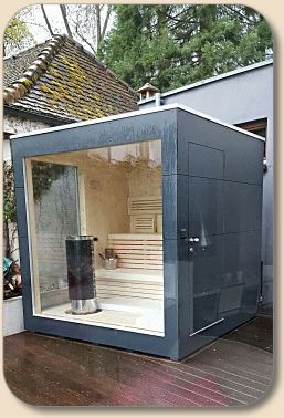 Gartensauna Cube/Cubus Design Sauna im garten