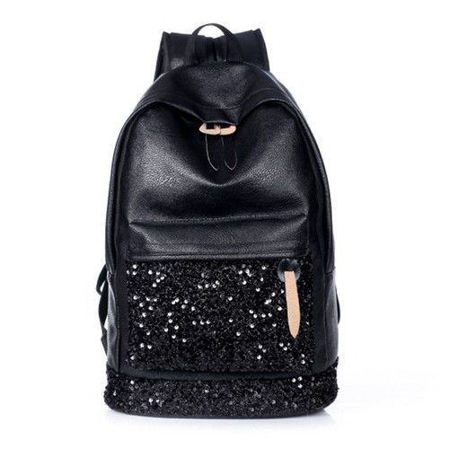 BAIJIAWEI Fashion Women Backpack Big Crown Embroidered Sequins Backpack  Women Leather Backpacks High Quality Girls School Bags 21078f0443